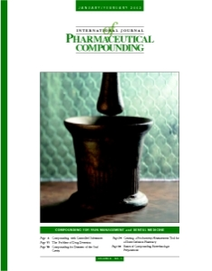Jan/Feb 2002 - Compounding for Pain Management and Dental Medicine (PDF)