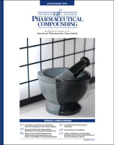 Jul/Aug 2010  - Sterile Compounding (PDF)